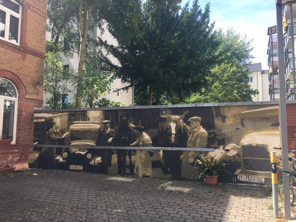 Wandmalerei Wandgestaltung nach historischem Foto